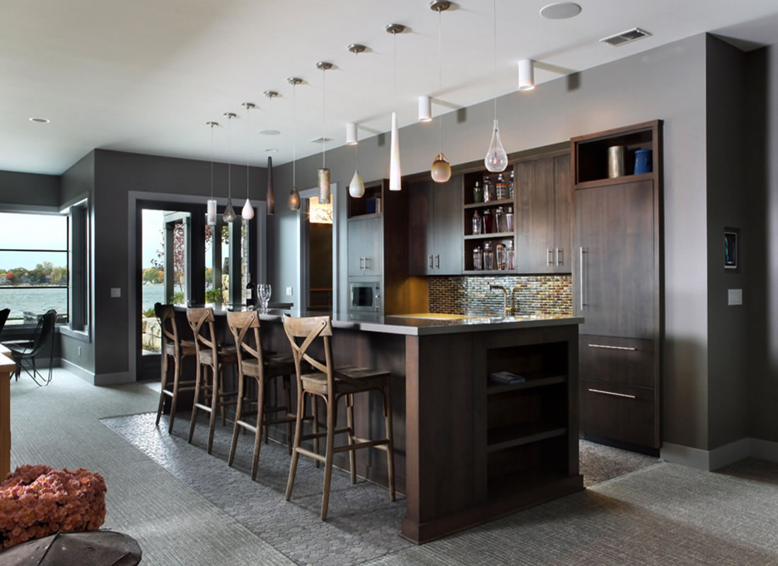 Specialty rooms scott christopher homes top west for Simple mini bar design