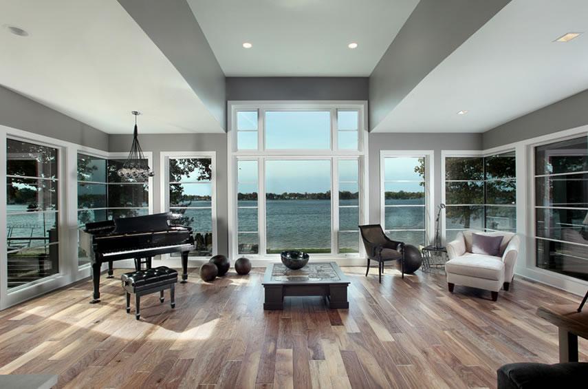 modern lake home scott christopher homes